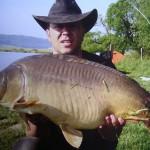 Krap usnjar, ujet v Radehovi 2005. Teža 17kg (Stanko Tkavec)