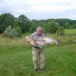 Tolstolobik, ulovljen v Trojici 2005. Teža 36kg, dolžina 130cm (Viktor Mlakar)